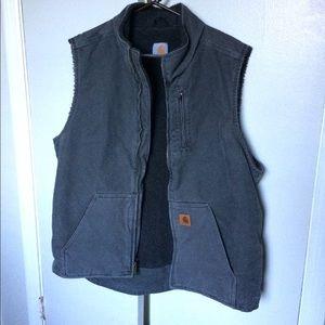 Carhartt Work Vest XL Tall Heavyweight Gray